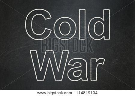 Political concept: Cold War on chalkboard background