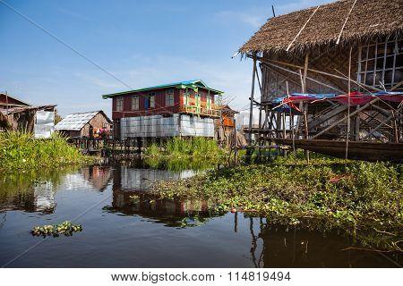 Village, Inle Lake