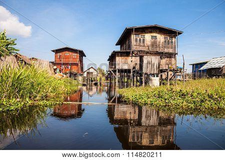 Fishermen's village on the Inle Lake