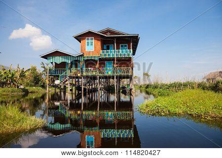 House of Inle Lake village