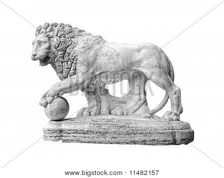 Lion Sculpture Isolated