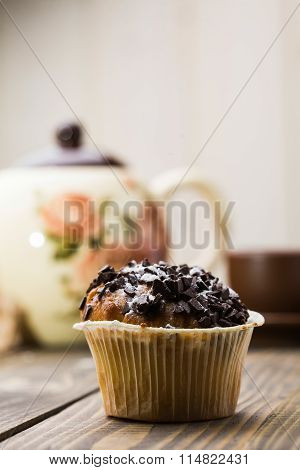 Tasty Cupcake With Chocolate