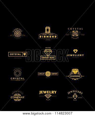 Flat crystal company insgnia template.
