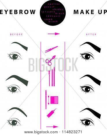 eyebrow make up illustration