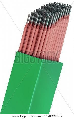 Welding Rods Isolated with Clipping Path