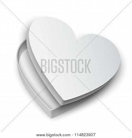 Opened Heart Gift Box