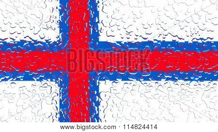 Flag of the Faroe Islands, Faroese flag with water drops
