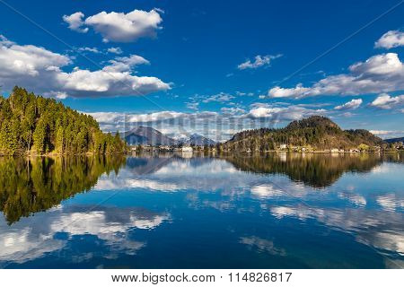 View Of Bled Lake And Town-bled,slovenia,europe