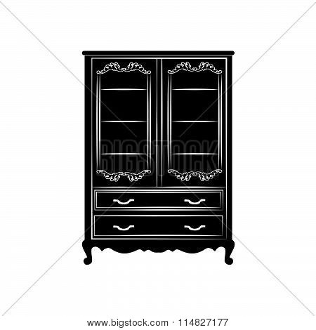 Classic royal glass case closet