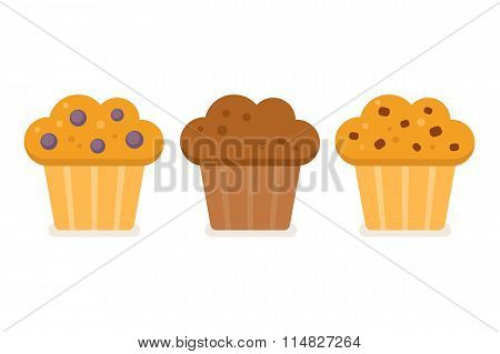 Muffin Icon Set