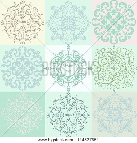 Classic vintage colorful ornaments pattern