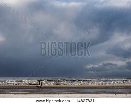 North Sea Beach In Vejrs Near Esbjerg In Denmark