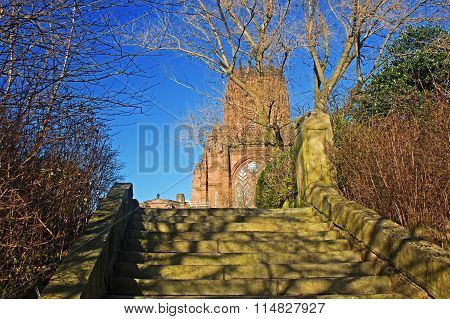 Liverpool Cathedral Built On St James's Mount In Liverpool Ranks As The Fifth-largest Cathedral In T