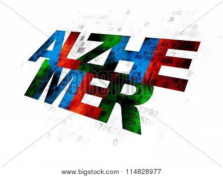 Medicine concept: Alzheimer on Digital background