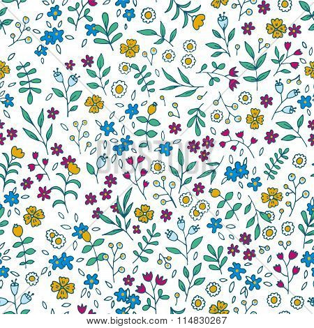 Vector colorful floral seamless pattern