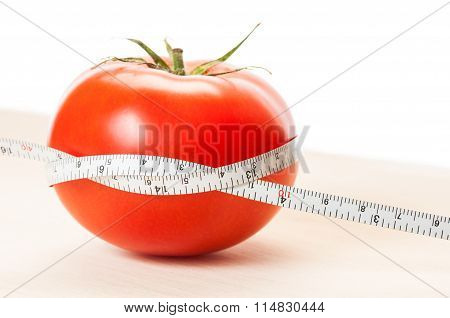 Loose Weight With Red Tomatoes Diet Concept.