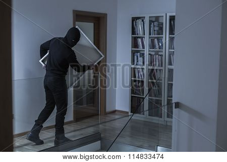 Robber In Black Mask