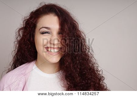 teenage girl with a big smile