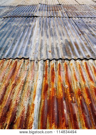 Rusty Corrugated Metal Roof