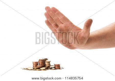 Beggar Hand Refusing Coins.