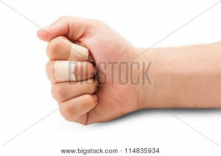 Fist With Wounded Fingers.