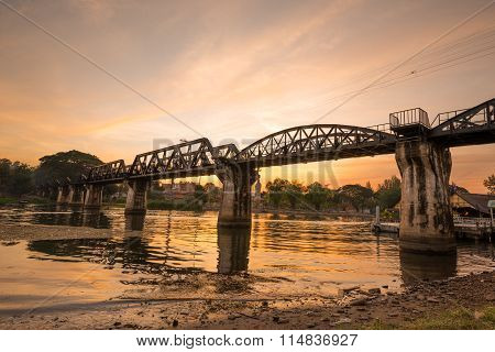 The Death Railway Bridge Over Kwai River