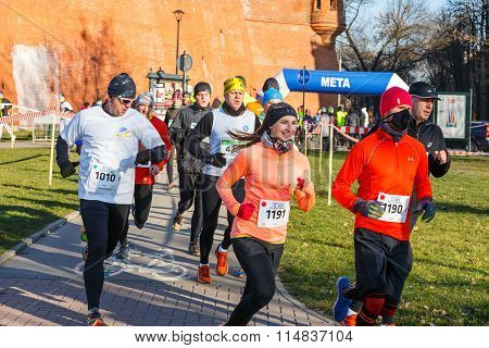 Krakow Poland - December 31 2015: 12th New Year's Eve Race in Krakow.