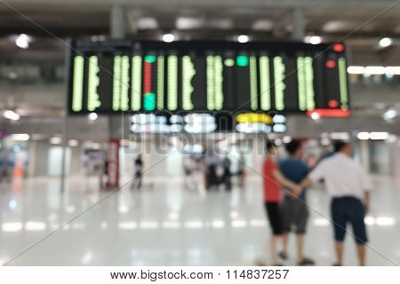 Blur photo in Airport