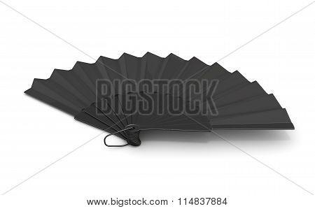 3D Black Hand Fan.