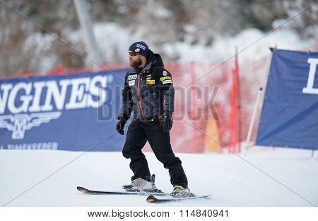 LIENZ, AUSTRIA - DECEMBER 28 2013:  During the FIS Alpine World Cup giant Slalom women's race in Lienz, Austria.