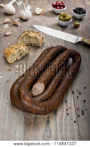Traditional Polish Smoked Sausage