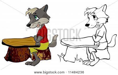 Wolf in school