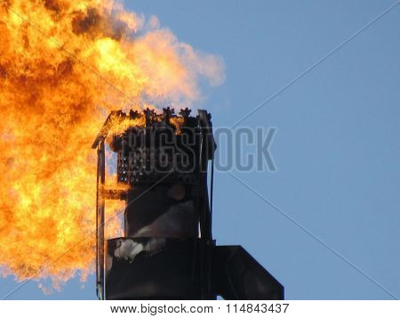 Torch System On An Oil Field