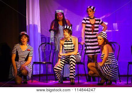 Editorial,14 January 2016: France: Neuve-eglise: Spectacle Of Cabaret Satirical S'brannkessele