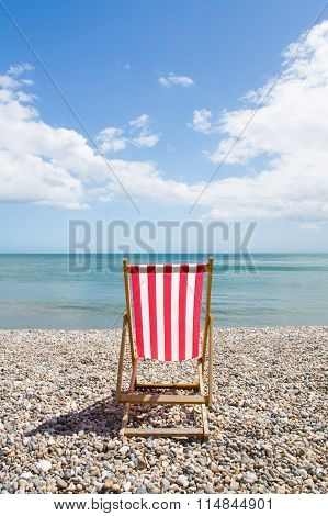 Red And White Striped Deckchair