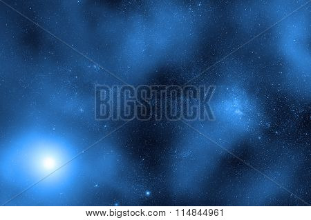 Milky way stars and star-dust in deep space / cosmos.