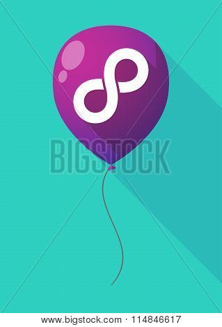 Long Shadow Balloon With An Infinite Sign