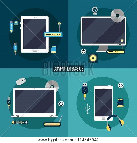 Computer And Electronic Basics: Laptop, Computer, Smart Phone, Tablet And Accessories