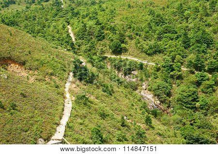 Aerial view on Lantau Island. may be use like background