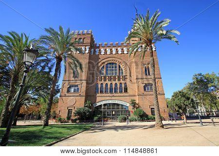 Barcelona, Catalonia, Spain - August 31, 2012: Castel dels Tres Dragons In Parc De La Ciutadella