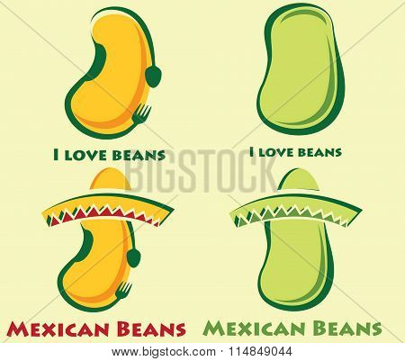 Set Of Beans And Mexican Beans