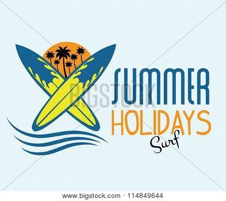 Ilustration Of Surf Summer Holidays