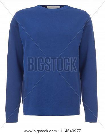 Cut-out Of Plain Blue Long-sleeved Shirt Software6212