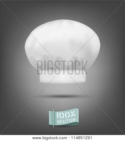 vector chef hat isolated on a gray background