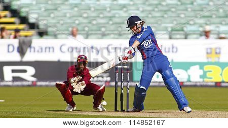 CHESTER LE STREET, ENGLAND 08-Sept-2012. During the 1st Nat West t20 cricket match between  England women's team and West Indies women's and played at Emirate Riverside Cricket Ground, Durham.