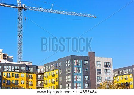 Urban residential development in Northern Virginia USA.