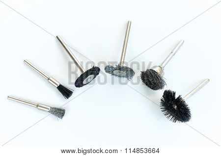 Set of different mini rotary tool bits