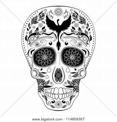 Dia De Muertos Tattoo Skull Day Of The Dead Full