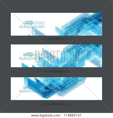 Abstract background with blue stripes corner.