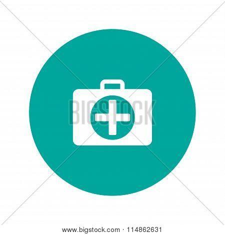 Ambulance Icon. Flat Design Style.